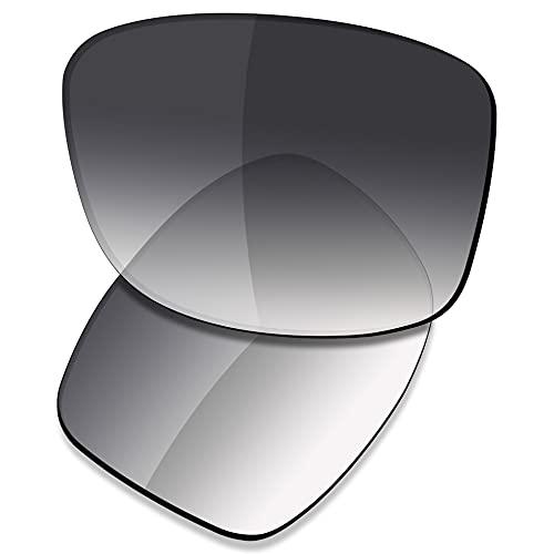 Saucer Lentes de repuesto para gafas de sol cuadradas Oakley Jupiter, (High Defense - Grey Gradient Tint Polarized), Talla única