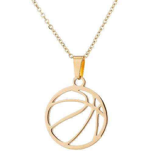 AAMOUSE Halskette Mode Männer Sport Kette Choker Edelstahl Basketball Frauen senden Freund Schmuck Sunshine Boy Anhänger ZubehörNeujahr