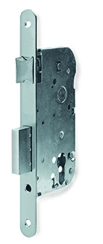 Tesa Assa Abloy, 203MNI70RAI, Cerradura Automática para Puertas de Madera Serie 203MN 60mm, Acero Inoxidable, Entrada 70mm