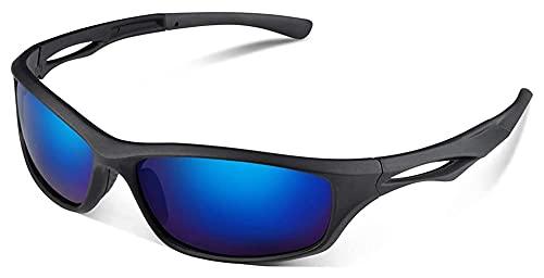Reversty Gafas de Sol polarizadas de Deportes con el UV400 Proteccion TR90 Marco para Hombres y Mujeres de conducción, Pesca y Ciclismo (Color : Azul)