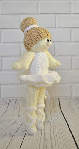 Knitting Pattern Ballerina Doll from Knitting by Post. Knit Cute Ballet Dancer Handmade Gifts. Fun Quick & Easy Beginner Soft Toy Knits. Made in The UK