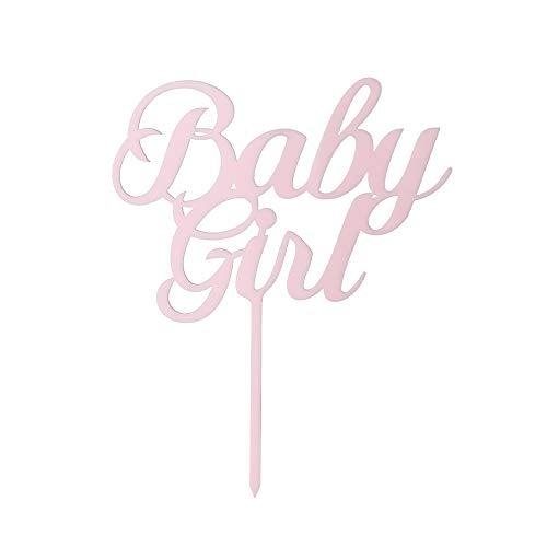 Hohe Qualität Baby Shower Lieferungen von Parteien Geschenke Baby Boy Girl Acryl Dekor Kuchen Topper Herzlichen Glückwunsch(Pink-Baby Girl)