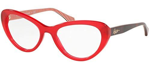 Ralph Lauren RALPH BY 0RA7107 Monturas de gafas, Transparente Red, 53 para Mujer