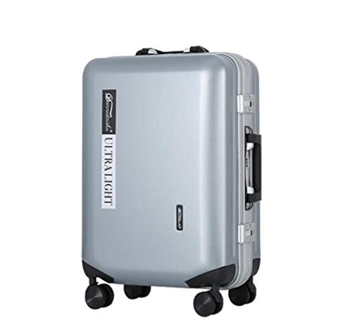 K-ONE 20' 24' aluminium frame luggage spinner hard side travel suitcase matt trolley travel bag with wheels,light gray,24' Fashion trend