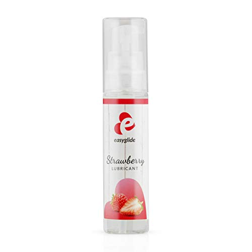 EasyGlide Erdbeer Gleitmittel (30ml) Gleitgel mit intensiven Erdbeergeschmack; Optimal für Oralverkehr