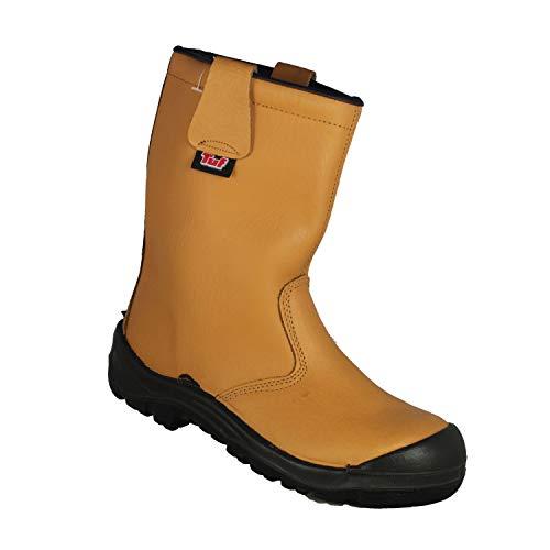TuF Stiefel S1P CI SRC Mehrzweckstiefel Gartenstiefel Stiefel Beige B-Ware, Größe:38 EU