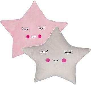 Dream Hogar Cojin Estrella Nube Suave Original Poliester Decorativo (Estrella Rosa)