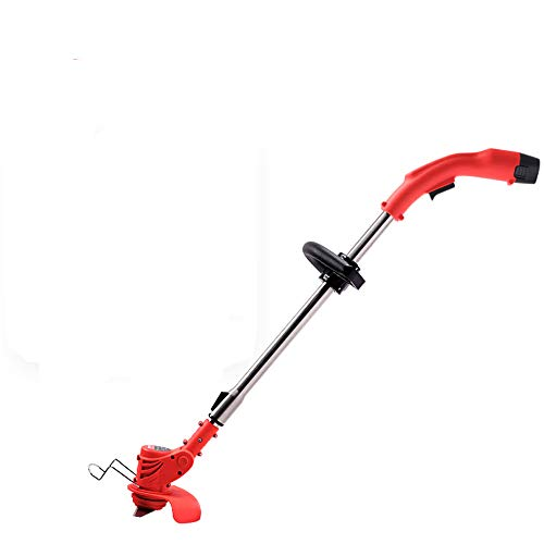 New Maniny Cordless Electric Lawn Mower Weeder Household Small Multi-Function Lawn Trimmer(Plastic C...