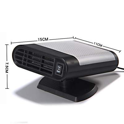 DIDIDIOI 12 V 150 W snelle verwarming ontdooier draaibaar keramiek anti-condens-basis voor de voorruit, antislip, voor de binnenruimte van de auto, draagbaar