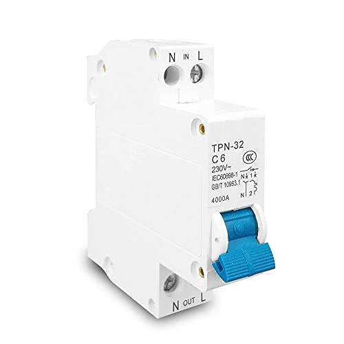 Mini interruptor MCB 6A 10A 16A 20A 25A 32A Montaje en disyuntores Interruptor de aire doméstico en miniatura-6A