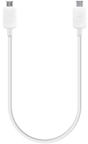 Samsung Power Sharing Kabel Micro USB - Micro USB für Engergieaustausch zwischen Galaxy S5 und Kompatibles Gerät - Weiß