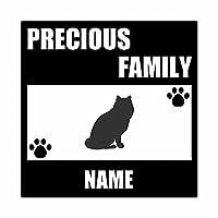 ForzaGroup 全犬種 全猫種対応 メインクーン2 (137-174) 猫 ネコ 車 ステッカー 名前入れ