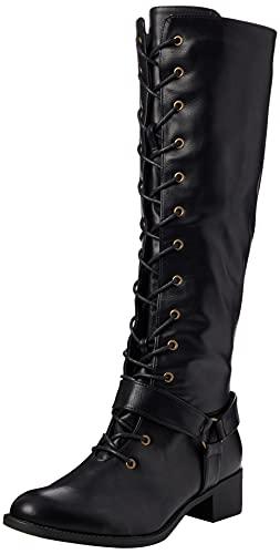 Joe Browns My Go to Lace Up Boots, Botte Tendance Femme, Noir, 40.5 EU