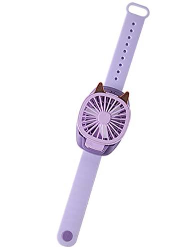 gfdfrg Mini Ventilador de Mano, Ventilador USB Recargable,Ventilador de Muñeca,Ajustable 3 Velocidad con Luz de Color Portátil Eléctrico Ventilador para Regalos para Niños