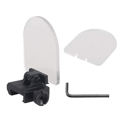 ToopMount Sight Protector 3mm High Impact Bulletproof Shield Protector Rounded Foldable Lens Cover Shields Rail Mounted Sight Protector 20mm Clear Transparent Scope Lens Protector (Transparent 1)