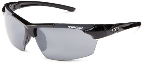 Tifosi Jet 0210400270 Wrap Sunglasses,Gloss Black Frame/Smoke Lens,One Size