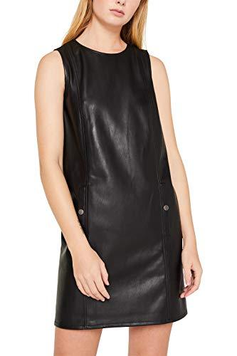 edc by ESPRIT Damen 119CC1E016 Kleid, Schwarz (Black 001), (Herstellergröße: 34)