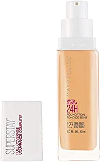 Maybelline New York Super Stay Full Coverage Liquid Foundation Makeup, 127 Sand Beige, 1 Fl Oz