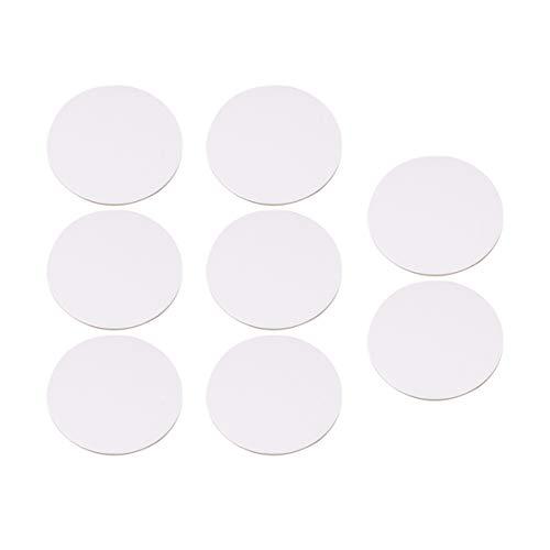 Healifty 6 runde Leinwände zum Malen und Zeichnen, 30 cm, canvas, weiß, 34