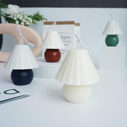 Uing Molde de vela con forma de lámpara de mesa Molde de vela perfumado de dos piezas Molde de vela Molde de vela con forma de lámpara de mesa Molde de plástico de regalo utilizado para producir value