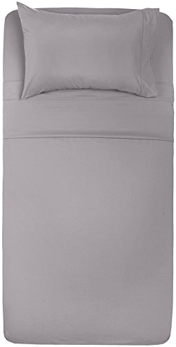 Amazon Basics Microfiber Sheet Set, Twin XL, Dark Grey Delaware