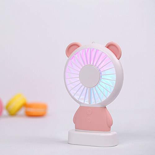 YouYou-YC Leuke mini-oplaadbare USB-kleine ventilator, multifunctionele lantaarn, nachtlampje, draagbare ventilator met hangende hals, draagbare kleine ventilator, student, kleine ventilator