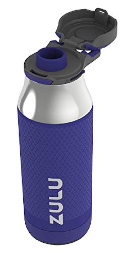 ZULU Ace Vacuum Insulated Stainless Steel Water Bottle with Removable Base | 24 oz | Violet Ice
