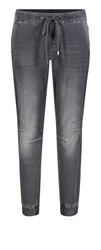 MAC Jeans Damen Jog´N Jump in Boyfriend Jeans, Grau (Light Grey Used D325), W42 (Herstellergröße: 42/Ol)