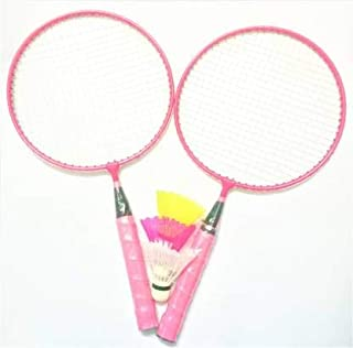 Kids Badminton Racket Set of 2 Racket 3 Plastic Shuttle (Random Mix Colour as per Availability)