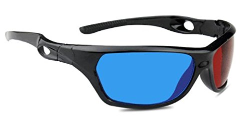 3D Brille rot/Cyan (3D-Anaglyphenbrille) hochwertige 3D Brille für 3D PC-Spiele UVM. Marke PRECORN