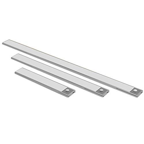 Vimele Ultradünnes 23/40 / 60CM PIR Bewegungs-Sensor-LED unter Kabinett-Licht USB aufladbare Schrank Schrank Wandleuchte Wandschrank Nachtlicht (Farbe : Warm White, Size : 12CM 18leds)
