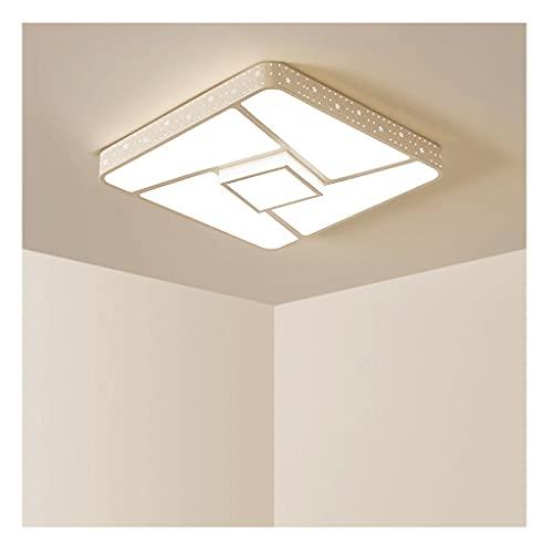 DIRIGIÓ Luz de eifle Simple, lámpara de Techo Blanca 36-96W 3000-7500K, atenuación de Control Remoto Continuo, Sala de Estar Adecuada, Dormitorio (Color : White, tamaño : 60W)