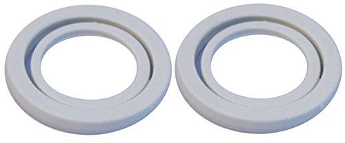 iSi 2 Stück Kopfdichtung grau Sahnespender mit Kunststoffkopf