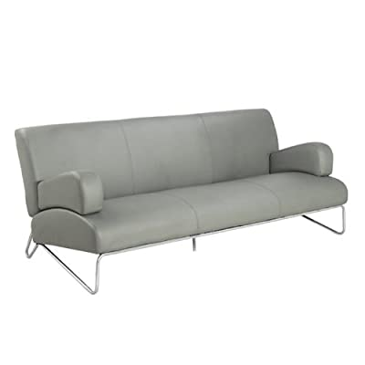 Directions East Easy Rider Couch in Faux Leather, Grey
