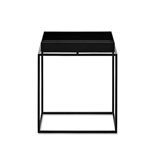 HAY Tray Table - small 30x30xh34cm schwarz, Metall Pulverbeschichtet, Couchtisch - Beistelltisch