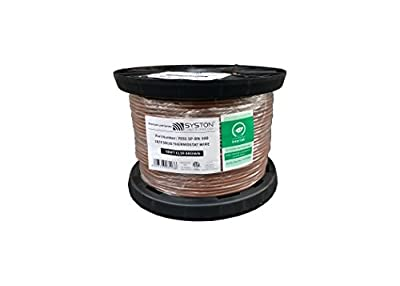 18/2 Solid, HVAC-Thermostat Cable, UL/ETL CL3R/CMR/FT4, 18AWG 2 Pure Copper Conductors, Indoor/Outdoor UV Resistant RoHS Brown 500ft Spool