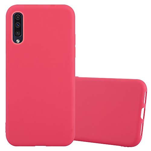 Cadorabo Custodia per Samsung Galaxy A50 in Candy Rosso - Morbida Cover Protettiva Sottile di Silicone TPU con Bordo Protezione - Ultra Slim Case Antiurto Gel Back Bumper Guscio