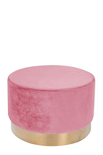 One Couture Pouf, Pino, Rosa Antico, 55 x 55 x 43