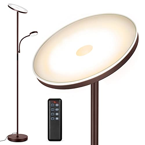 Outon LED Floor Lamp with Adjustable Reading Lamp, 27W Main Light & 7W...