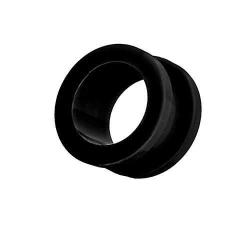 Piercingfaktor Flesh Tunnel Ohr Schraub Ear Plug Piercing Kunststoff Acryl Schraubverschluss Rund Creole 10mm Schwarz