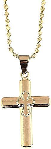 NC110 Collar Wen, Collar con Colgante de Cruz de Jesús, Color Dorado, Hombres, Wen, Adornos navideños católicos, Colgante, Collar, Regalo para niñas y niños
