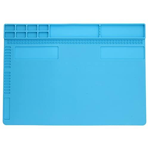 Minadax Esterilla de soldadura – hasta 500 °C – 34 cm x 24 cm | Ideal para soldar o reparar placas de circuito impreso | MX-A-210 | Antideslizante | Multifuncional