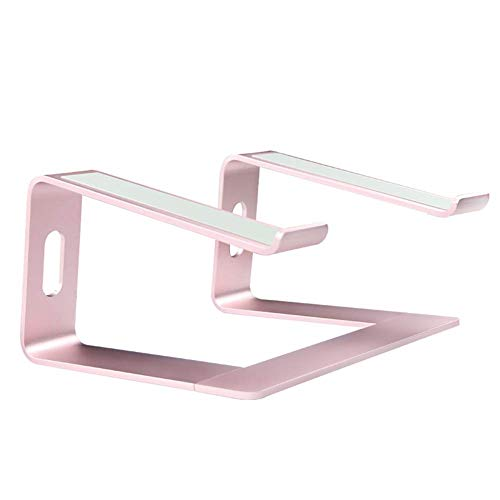 Computer Monitor Laptop Stand Riser,aluminum Removable Laptop Holder,ventilated Stand Compatible For 10-15.6'notebook And Tablet Pink 26 * 26 * 9cm aycpg (Color : Pink, Size : 26 * 26 * 9cm)