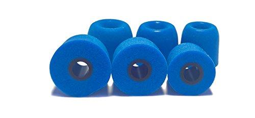The Case Market 3 Pares (Juego de 6 Unidades) Memory Foam Almohadillas Almohadillas para Auriculares in-Ear. Compatible con la mayoría de oído en Marca Auriculares. (SML, Blue)