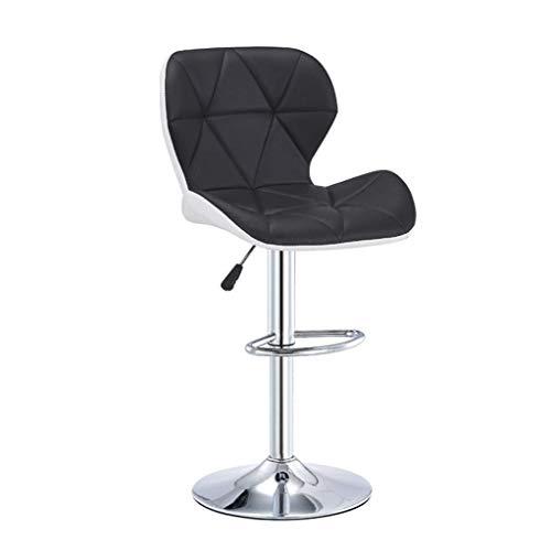 Barhocker, Küchenhocker Barhocker Barhocker Stuhl, Verstellbare Edelstahl Dining Chair mit Rückseite PU-Leder Restaurant Hocker Kücheninsel Zähler Barhocker (Farbe: B)