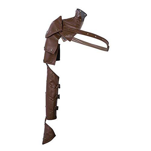 keland Damen Gothic Steampunk Lederarmband Schal Schulter-Handtasche (Brown)