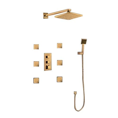 Lowest Price! Gold Tone Finish Napoli LED Shower Set
