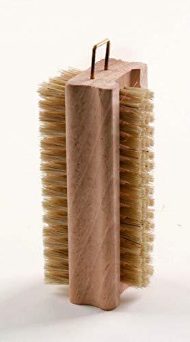 Haug Brosse à ongles double en bois réversible Poils purs