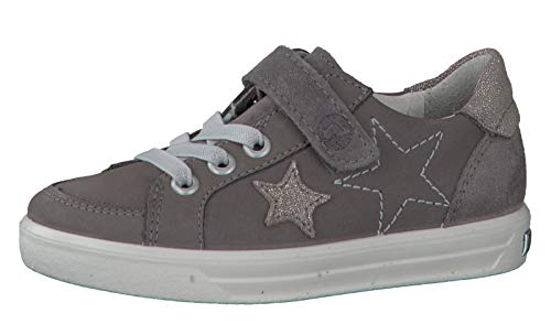 RICOSTA Mädchen Sneaker Bevy 8109800, Kinder Low-Top Sneaker,Halbschuh,Sportschuh,Klettschuh, Klett-Verschluss,Graphit,33 EU