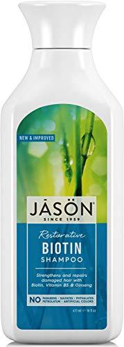 Jason Restorative Biotin Pure Natural Shampoo (473ml, No Parabens) by Jason Natural Products